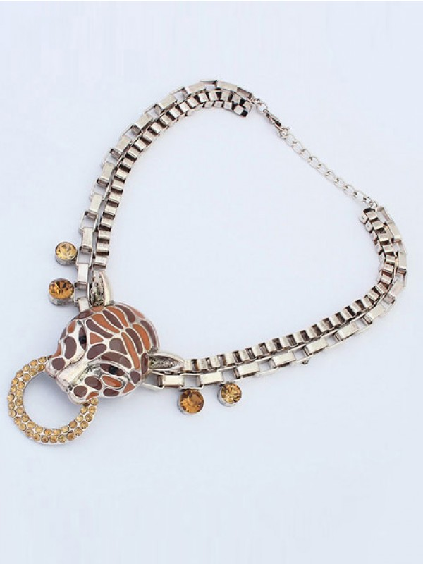 Occident Personality Metallic Leopard Punk Hot Sale Necklace