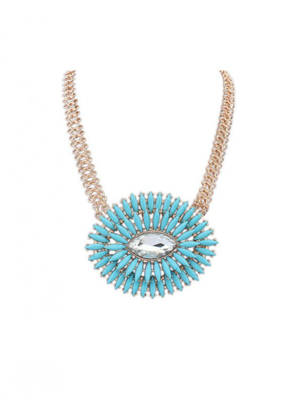 Occident Fashionable Oval Simple Fresh Hot Sale Necklace